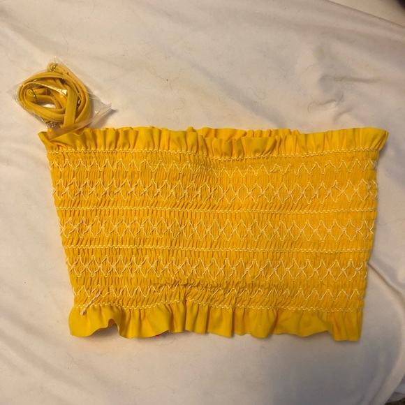 0ee6c0f8d8 Xhilaration Swim | Strapless Yellow Bathing Suit Top Brand New ...